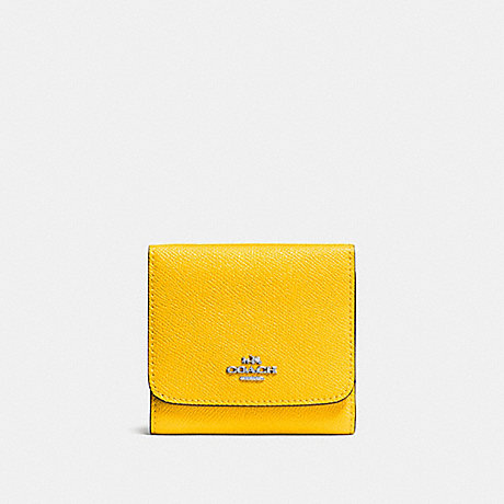 COACH SMALL WALLET - SILVER/YELLOW - f57725