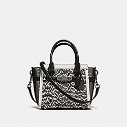 COACH COACH SWAGGER 21 IN SNAKE - DARK GUNMETAL/CHALK - F57748