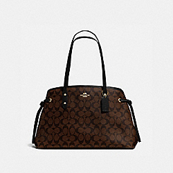 COACH DRAWSTRING CARRYALL IN SIGNATURE - IMITATION GOLD/BROWN/BLACK - F57842
