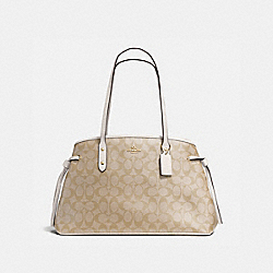 COACH DRAWSTRING CARRYALL IN SIGNATURE - IMITATION GOLD/LIGHT KHAKI/CHALK - F57842
