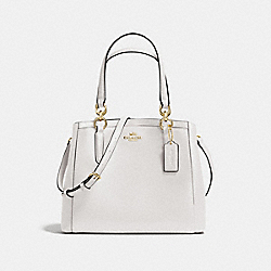 COACH MINETTA CROSSBODY IN CROSSGRAIN LEATHER - LIGHT GOLD/CHALK - F57847