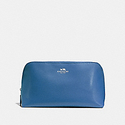 COSMETIC CASE 22 - SKY BLUE/SILVER - COACH F57856