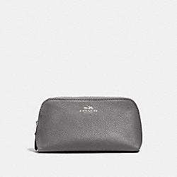 COSMETIC CASE 17 - HEATHER GREY/SILVER - COACH F57857