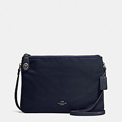 NYLON CROSSBODY - f57899 - ANTIQUE NICKEL/MIDNIGHT