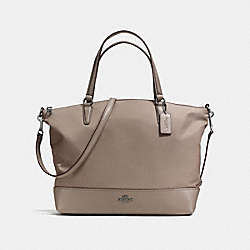 COACH NYLON SATCHEL - ANTIQUE SILVER/FOG - F57902