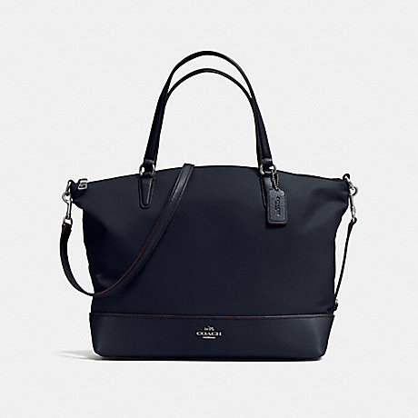 COACH NYLON SATCHEL - ANTIQUE NICKEL/MIDNIGHT - f57902