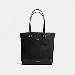 NYLON TOTE - f57903 - ANTIQUE NICKEL/BLACK