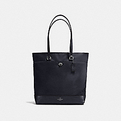 NYLON TOTE - f57903 - ANTIQUE NICKEL/MIDNIGHT
