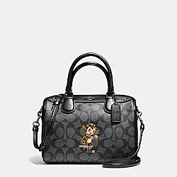 BASEMAN X COACH BUSTER MINI BENNETT SATCHEL IN SIGNATURE COATED CANVAS - f57907 - ANTIQUE SILVER/NICKEL