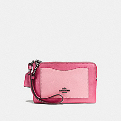 SMALL WRISTLET IN COLORBLOCK - ROUGE MULTI/DARK GUNMETAL - COACH F57928