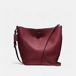 COACH DUFFLE SHOULDER BAG - bordeaux/black copper - F58017