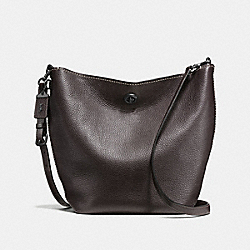DUFFLE SHOULDER BAG - CHESTNUT/BLACK COPPER - COACH F58019