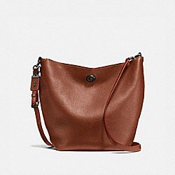 DUFFLE SHOULDER BAG - 1941 SADDLE/BLACK COPPER - COACH F58019