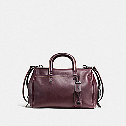 COACH ROGUE SATCHEL IN GLOVETANNED PEBBLE LEATHER - BLACK COPPER/OXBLOOD - F58023
