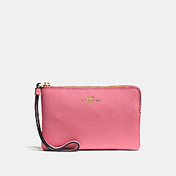 CORNER ZIP WRISTLET - STRAWBERRY/IMITATION GOLD - COACH F58032