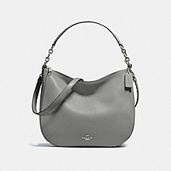 CHELSEA HOBO 32 - HEATHER GREY/DARK GUNMETAL - COACH F58036