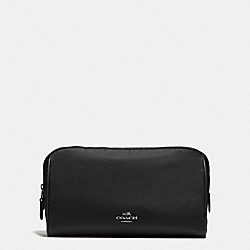 COACH COSMETIC CASE 22 IN NYLON - ANTIQUE NICKEL/BLACK - F58064