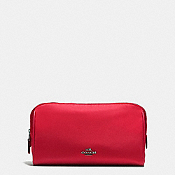 COSMETIC CASE 22 IN NYLON - BLACK ANTIQUE NICKEL/TRUE RED - COACH F58064