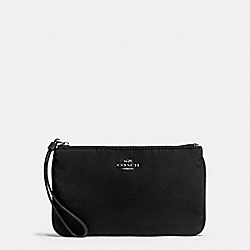 LARGE WRISTLET IN NYLON - ANTIQUE NICKEL/BLACK - COACH F58068