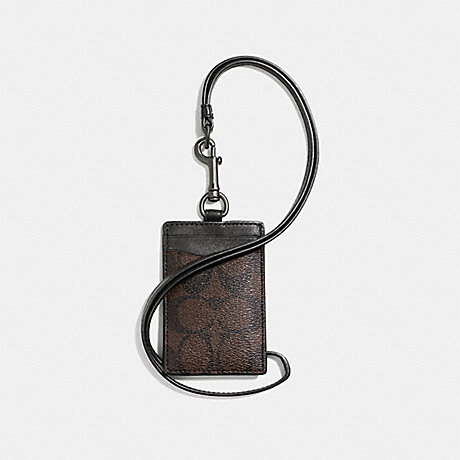 COACH ID LANYARD IN SIGNATURE - MAHOGANY/BROWN - f58106