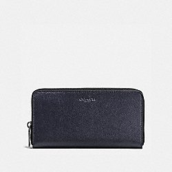 ACCORDION WALLET IN CROSSGRAIN LEATHER - f58107 - MIDNIGHT NAVY