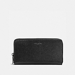 ACCORDION WALLET IN CROSSGRAIN LEATHER - f58107 - BLACK