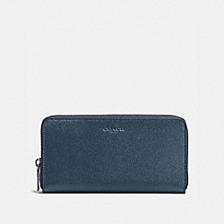 ACCORDION WALLET IN CROSSGRAIN LEATHER - f58107 - DARK DENIM