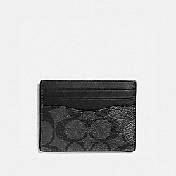 COACH SLIM CARD CASE - CHARCOAL/BLACK - F58110