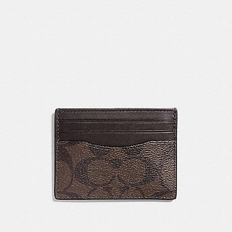 COACH SLIM CARD CASE - MAHOGANY/BROWN - f58110