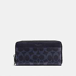 ACCORDION WALLET IN SIGNATURE - f58112 - MIDNIGHT