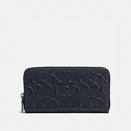 COACH ACCORDION WALLET - MIDNIGHT NAVY - f58113