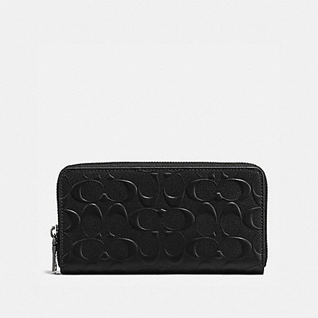 COACH ACCORDION WALLET IN SIGNATURE LEATHER - BLACK - F58113
