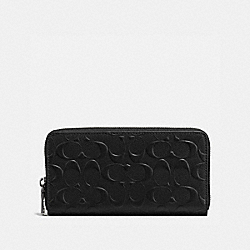 COACH ACCORDION WALLET - BLACK - F58113