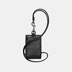 COACH ID LANYARD IN SPORT CALF LEATHER - BLACK - F58114