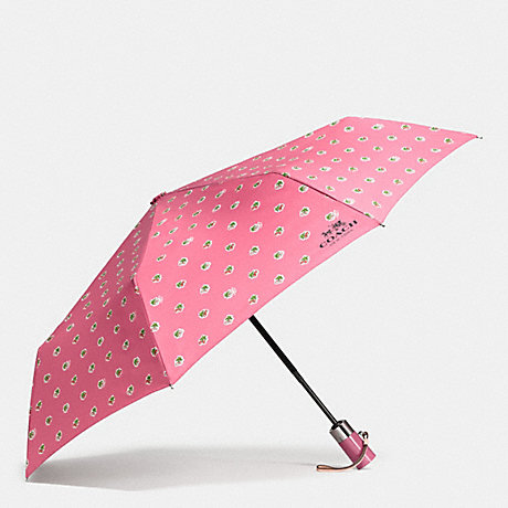 COACH UMBRELLA IN CHERRIES PRINT - SILVER/STRAWBERRY - f58139