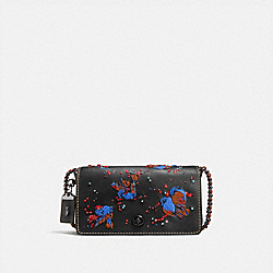 COACH DINKY WITH MEADOWLARK - BLACK/BLACK COPPER - F58148
