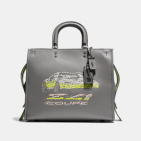 COACH f58150 ROGUE 36 WITH CAR EMBELLISHMENT Heather Grey/Black Copper