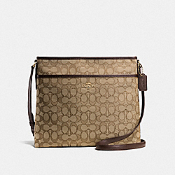COACH FILE BAG - KHAKI/BROWN/IMITATION GOLD - F58285
