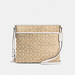 FILE BAG IN OUTLINE SIGNATURE - f58285 - IMITATION GOLD/LIGHT KHAKI/CHALK
