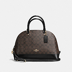 SIERRA SATCHEL IN SIGNATURE - f58287 - IMITATION GOLD/BROWN/BLACK