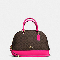 COACH SIERRA SATCHEL IN SIGNATURE - IMITATION GOLD/BROWN - F58287