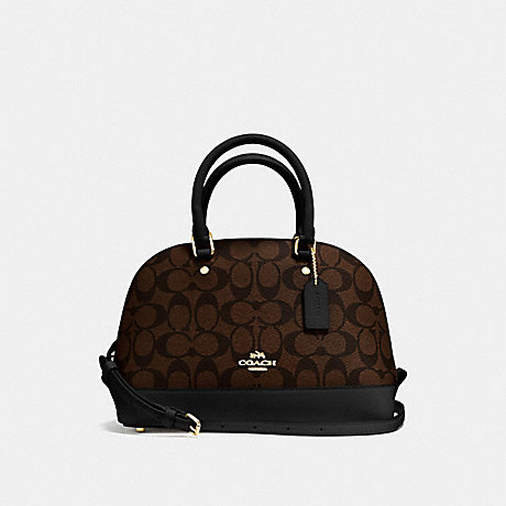 COACH MINI SIERRA SATCHEL - BROWN/BLACK/IMITATION GOLD - f58295