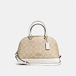 MINI SIERRA SATCHEL IN SIGNATURE - f58295 - IMITATION GOLD/LIGHT KHAKI/CHALK