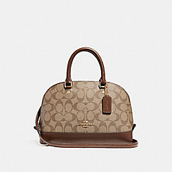 COACH MINI SIERRA SATCHEL - LIGHT GOLD/KHAKI - F58295