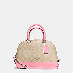 COACH F58295 - MINI SIERRA SATCHEL IN SIGNATURE SILVER/LIGHT KHAKI/BLUSH