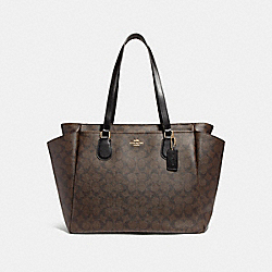 BABY BAG IN SIGNATURE CANVAS - BROWN/BLACK/IMITATION GOLD - COACH F58306