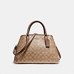 COACH SMALL MARGOT CARRYALL IN SIGNATURE COATED CANVAS - LIGHT GOLD/KHAKI - F58310