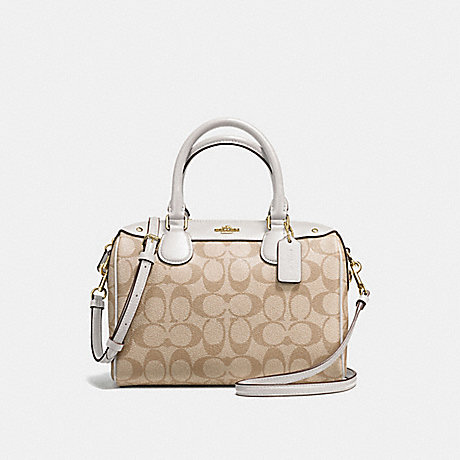 COACH f58312 MINI BENNETT SATCHEL IMITATION GOLD/LIGHT KHAKI