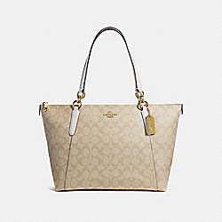COACH AVA TOTE - LIGHT KHAKI/CHALK/LIGHT GOLD - F58318