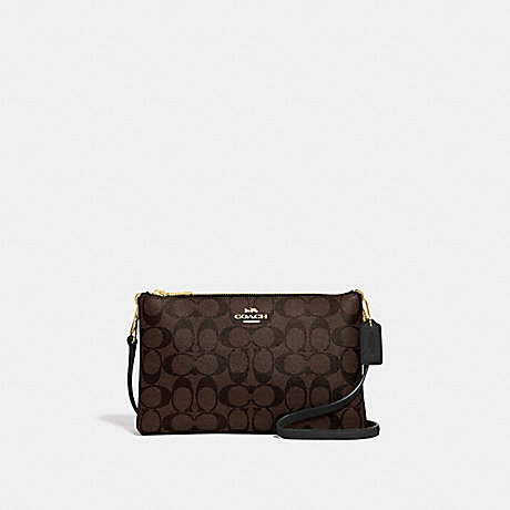 COACH LYLA CROSSBODY IN SIGNATURE CANVAS - BROWN/BLACK/IMITATION GOLD - F58328